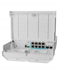 MIKROTIK outdoor reverse PoE switch with Gigabit Ethernet and 10G SFP+ ports, netPower Lite 7R (CSS610-1Gi-7R-2S+OUT)