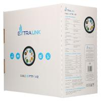 EXTRALINK CAT6 FTP (F/UTP) V2 OUTDOOR TWISTED PAIR 305M (EL-LAN-FUTP-CAT6-305)